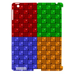 Number Plaid Colour Alphabet Red Green Purple Orange Apple Ipad 3/4 Hardshell Case (compatible With Smart Cover) by Jojostore
