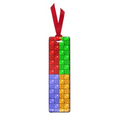 Number Plaid Colour Alphabet Red Green Purple Orange Small Book Marks by Jojostore