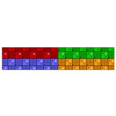 Number Plaid Colour Alphabet Red Green Purple Orange Flano Scarf (small) by Jojostore