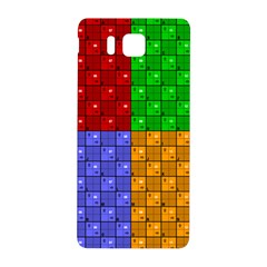 Number Plaid Colour Alphabet Red Green Purple Orange Samsung Galaxy Alpha Hardshell Back Case by Jojostore