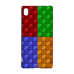 Number Plaid Colour Alphabet Red Green Purple Orange Sony Xperia Z3+ by Jojostore