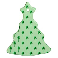 Palm Tree Coconoute Green Sea Ornament (christmas Tree)  by Jojostore