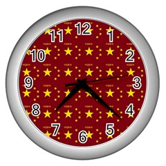 Chinese New Year Pattern Wall Clocks (silver)  by dflcprints