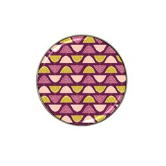 Retro Fruit Slice Lime Wave Chevron Yellow Purple Hat Clip Ball Marker (4 Pack) by Jojostore