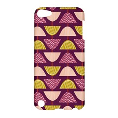 Retro Fruit Slice Lime Wave Chevron Yellow Purple Apple iPod Touch 5 Hardshell Case
