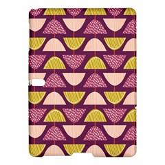 Retro Fruit Slice Lime Wave Chevron Yellow Purple Samsung Galaxy Tab S (10 5 ) Hardshell Case  by Jojostore