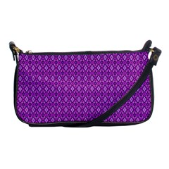 Surface Purple Patterns Lines Circle Shoulder Clutch Bags by Jojostore