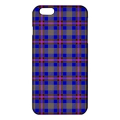 Tartan Fabric Colour Blue Iphone 6 Plus/6s Plus Tpu Case by Jojostore
