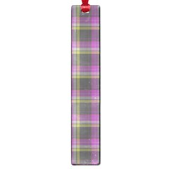 Tartan Fabric Colour Purple Large Book Marks by Jojostore