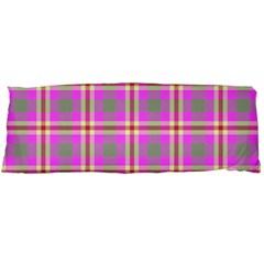 Tartan Fabric Colour Pink Body Pillow Case Dakimakura (Two Sides)