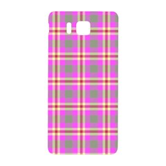Tartan Fabric Colour Pink Samsung Galaxy Alpha Hardshell Back Case