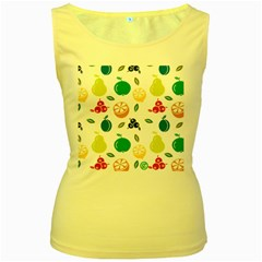 Fruit Lime Women s Yellow Tank Top by Jojostore