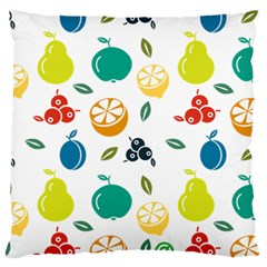 Fruit Lime Large Flano Cushion Case (two Sides) by Jojostore