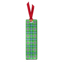 Tartan Fabric Colour Green Small Book Marks by Jojostore