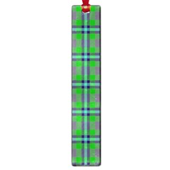 Tartan Fabric Colour Green Large Book Marks by Jojostore