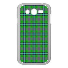 Tartan Fabric Colour Green Samsung Galaxy Grand Duos I9082 Case (white) by Jojostore