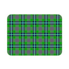 Tartan Fabric Colour Green Double Sided Flano Blanket (mini)  by Jojostore