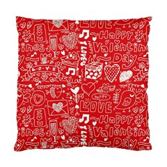 Happy Valentines Love Heart Red Standard Cushion Case (two Sides) by Jojostore
