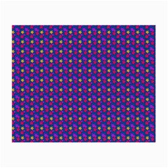 Beach Blue High Quality Seamless Pattern Purple Red Yrllow Flower Floral Small Glasses Cloth by Jojostore