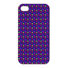 Beach Blue High Quality Seamless Pattern Purple Red Yrllow Flower Floral Apple Iphone 4/4s Hardshell Case by Jojostore