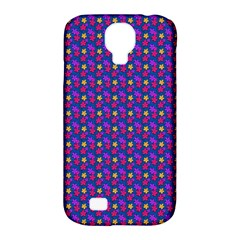 Beach Blue High Quality Seamless Pattern Purple Red Yrllow Flower Floral Samsung Galaxy S4 Classic Hardshell Case (pc+silicone) by Jojostore