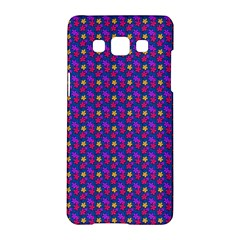 Beach Blue High Quality Seamless Pattern Purple Red Yrllow Flower Floral Samsung Galaxy A5 Hardshell Case  by Jojostore