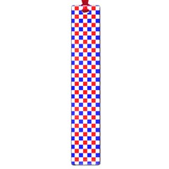 Blue Red Checkered Plaid Large Book Marks by Jojostore