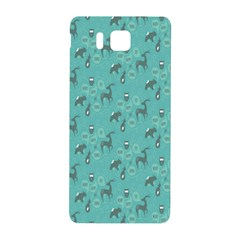 Animals Deer Owl Bird Grey Bear Blue Samsung Galaxy Alpha Hardshell Back Case