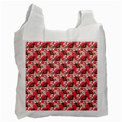 Birds Seamless Cute Birds Pattern Cute Red Recycle Bag (One Side) by Jojostore