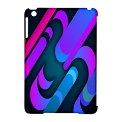 Chevron Wave Rainbow Purple Blue Pink Apple Ipad Mini Hardshell Case (compatible With Smart Cover) by Jojostore