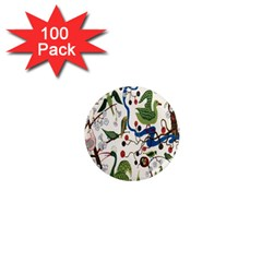 Bird Green Swan 1  Mini Magnets (100 Pack)  by Jojostore