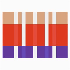 Compound Grid Flag Purple Red Brown Large Glasses Cloth by Jojostore