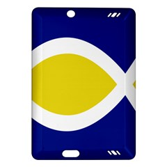 Flag Blue Yellow White Amazon Kindle Fire Hd (2013) Hardshell Case by Jojostore