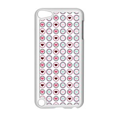 Circle Love Heart Purple Pink Blue Apple Ipod Touch 5 Case (white) by Jojostore
