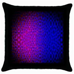 Geometri Purple Pink Blue Shape Pattern Flower Throw Pillow Case (black) by Jojostore