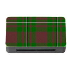 Cardney Tartan Fabric Colour Green Memory Card Reader With Cf by Jojostore