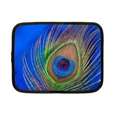 Blue Peacock Feather Netbook Case (small)  by Amaryn4rt