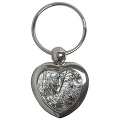 Winter Fall Trees Key Chains (heart)  by ansteybeta
