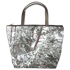 Winter Fall Trees Bucket Bags by ansteybeta