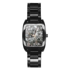 Winter Fall Trees Stainless Steel Barrel Watch by ansteybeta