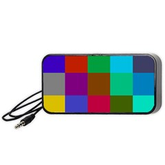 Chessboard Multicolored Portable Speaker (black) by Jojostore