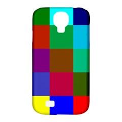 Chessboard Multicolored Samsung Galaxy S4 Classic Hardshell Case (pc+silicone) by Jojostore