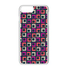 Abstract Squares Apple iPhone 7 Plus White Seamless Case by Jojostore
