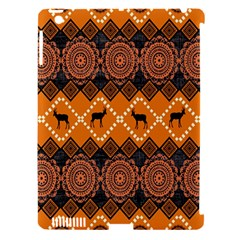 African Pattern Deer Orange Apple Ipad 3/4 Hardshell Case (compatible With Smart Cover) by Jojostore