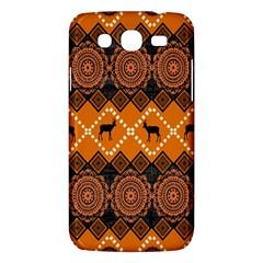African Pattern Deer Orange Samsung Galaxy Mega 5.8 I9152 Hardshell Case