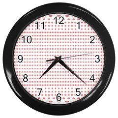 Dalmatian Red Circle Wall Clocks (Black)