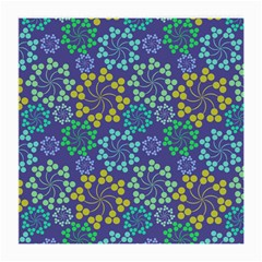 Color Variationssparkles Pattern Floral Flower Purple Medium Glasses Cloth (2 Side) by Jojostore