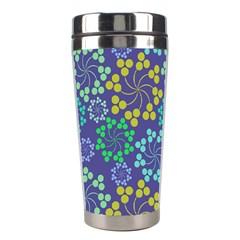 Color Variationssparkles Pattern Floral Flower Purple Stainless Steel Travel Tumblers by Jojostore