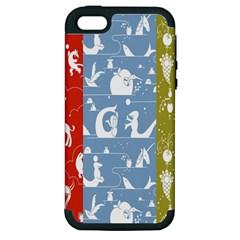 Deer Animals Swan Sheep Dog Whale Animals Flower Apple Iphone 5 Hardshell Case (pc+silicone) by Jojostore