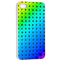 Letters Numbers Color Green Pink Purple Apple Iphone 4/4s Seamless Case (white) by Jojostore